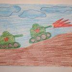 Два танка заезжают на пригорок