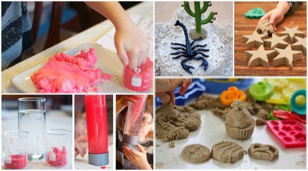 Занятия с кинетическим песком для дошкольников