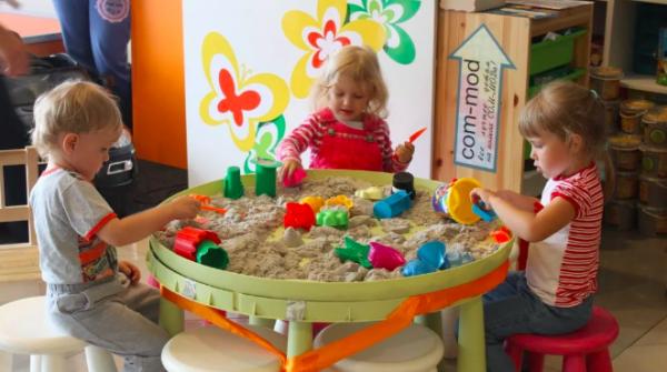 Кинетический песок в детском саду
