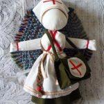 Медсестра, тканевая кукла