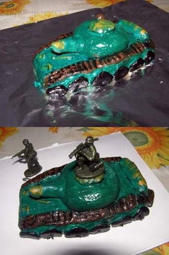 Два кадра с танком