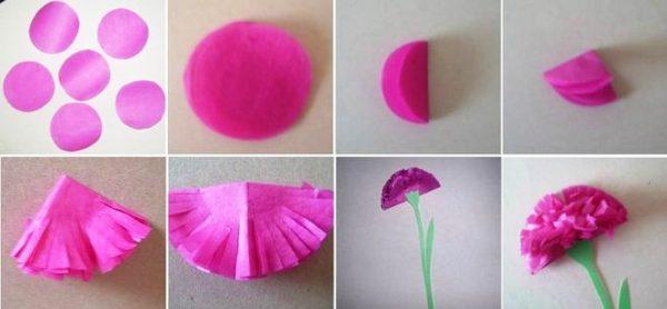 Мастер-класс по изготовлению лиловой гвоздики