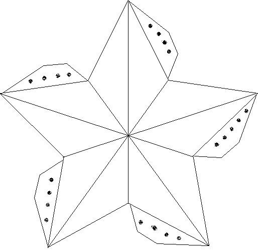 Шаблон объёмной звезды