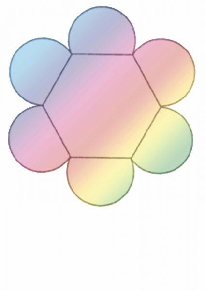 Шаблон кармашка в виде цветка