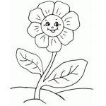 Раскраска Цветок с мордашкой