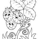 Раскраска Клубнички с мордашками