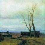 Картина И. Левитана Осень. Дорога в деревню