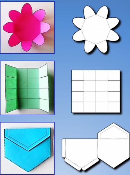Шаблоны для вырезания конвертов для лэпбука