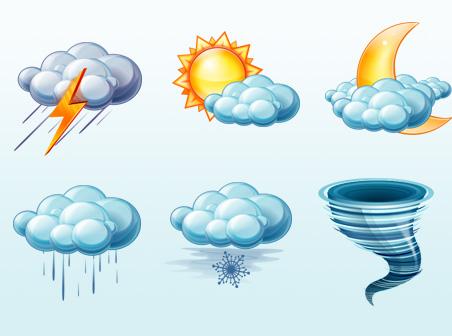 Пиктограммы для обозначения погоды