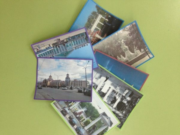 Парные картинки исторических мест города в разное время