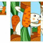 Пазл с зайцем и морковкой