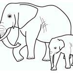 Раскраска Два слона