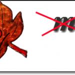 Ребус с осенним листом