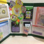 Лэпбук с конвертом-цветочком и объёмной машинкой для печати денег