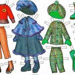 Зимняя одежда для бумажной куклы