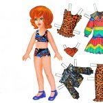 Шаблон бумажной куклы с одеждой