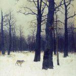 Картина И. Левитана Зимой в лесу