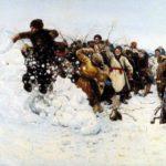 Картина В. Сурикова Взятие снежного городка