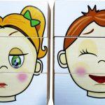 Пазлы с лицами девочки и мальчика