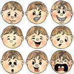Девять мордашек с эмоциями