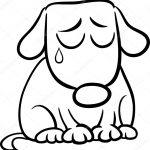 Шаблон с грустной собачкой