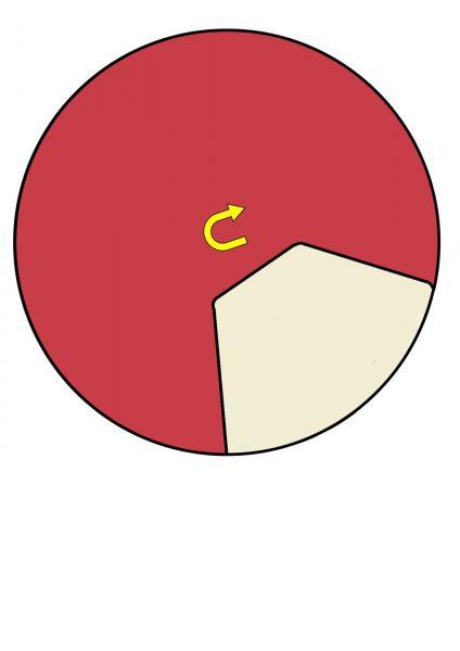 Шаблон для вырезания круга под вращающийся барабан