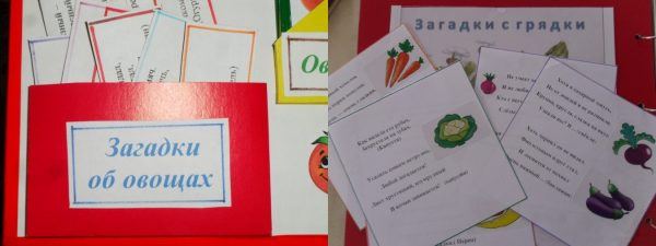 Загадки об овощах в конверте