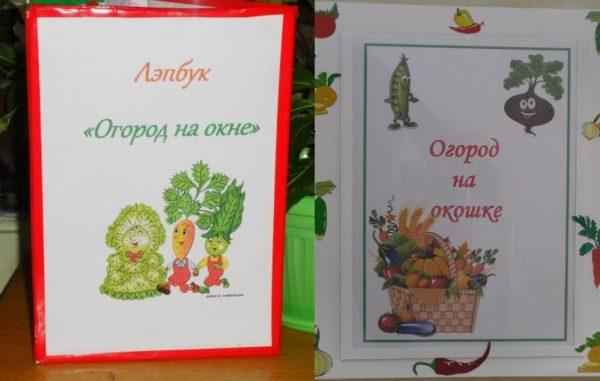 Обложки лэпбуков «Огород на окне», «Огород на окошке»