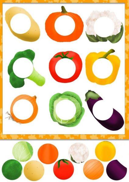 Дидактическая игра «Овощные заплатки»