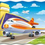 Картинка с самолётом на взлётной полосе