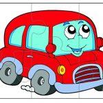 Красная машинка для пазла
