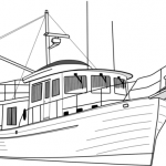 Шаблон для раскрашивания Корабль