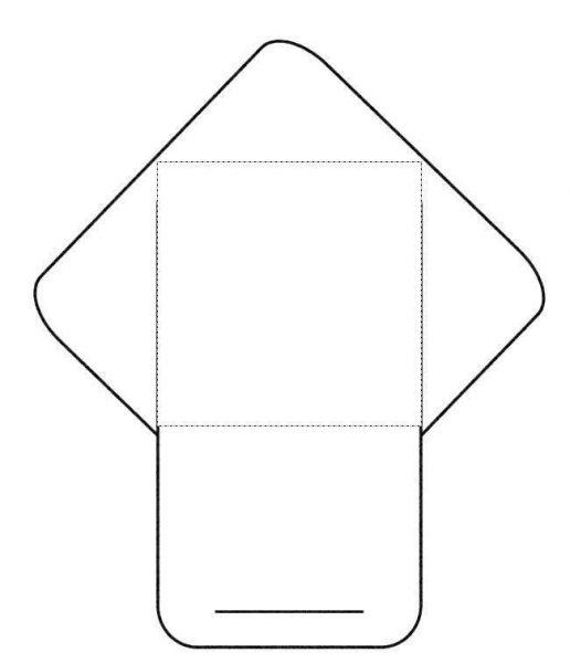 Шаблон для вырезания конверта с язычком
