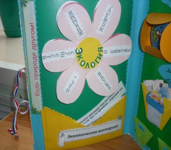 Цветок, на лепестках которого написано определение экологии