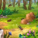 Картинка с насекомыми в лесу