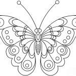 Шаблон для раскраски Бабочка