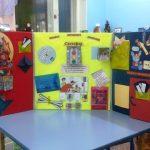 Три створки лэпбука: красная, жёлтая и зелёная