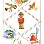 Мальчик и вокруг него картинки с предметами-источниками опасности
