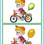 Картинка для поиска отличий Мальчик на велосипеде