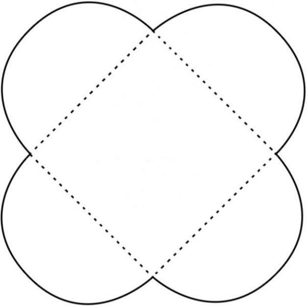 Шаблон конверта в виде цветка для лэпбука