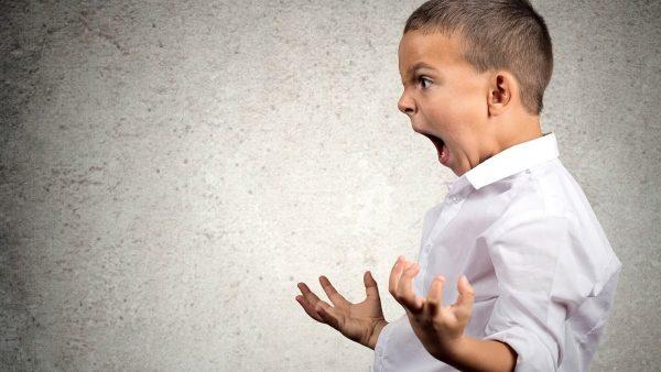 Мальчик (младший школьник) кричит