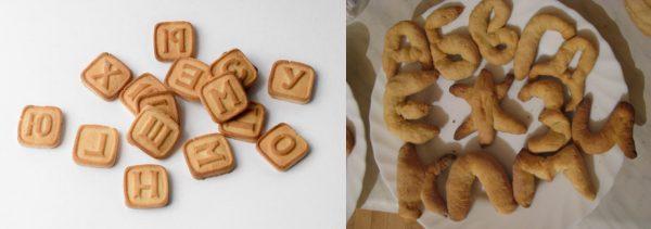 Печенье с изображением букв русского алфавита — магазинное и домашнее