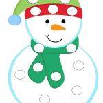 Снеговик раскраска пальчиками