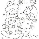 Снегурочка и белочка