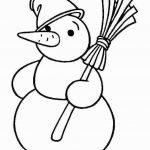 Снеговик простая раскраска