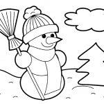 Снеговик на полянке