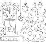 елка и часы