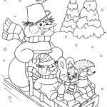 Снеговик и санки