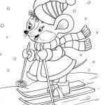 мышка на лыжах