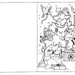 открытка с елкой
